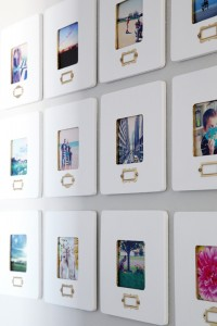 Instagram Style Wall Decor from iHeartOrganizing